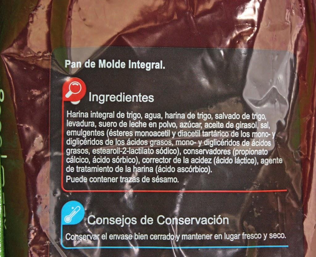 Pan de molde integral - No+Aditivos
