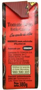 Tomate frito Cidacos estilo casero no contiene aditivos
