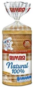 Pan de molde Bimbo sin aditivos