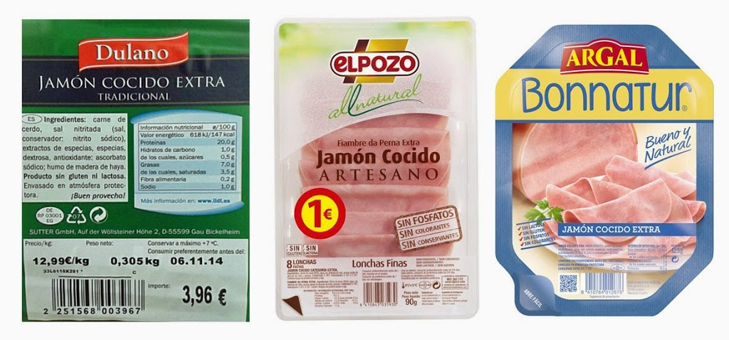 Jamón cocido: elige las marcas con menos aditivos, pero no lo consumas a diario - No+Aditivos
